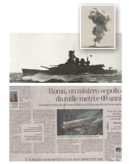 La corazzata roma il passato torna presente - Da roma porta verso il mare ...